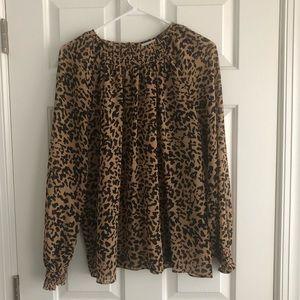 AVA & VIV leopard print top